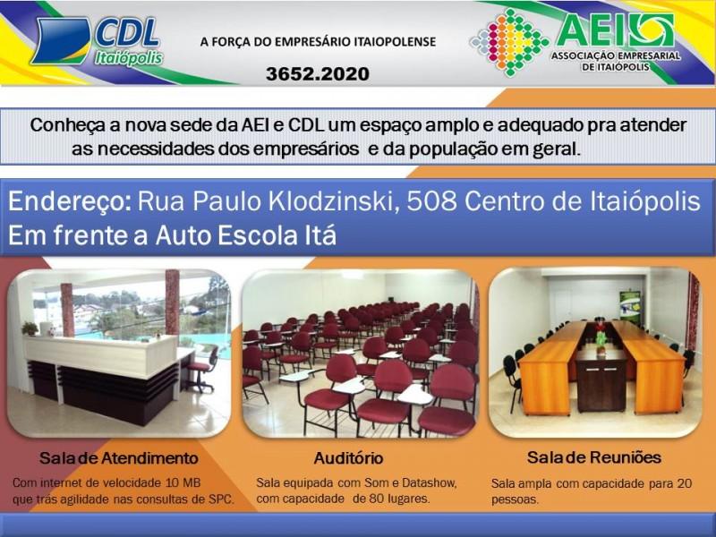 Uma grande oportunidade - AEI e CDL de Itaiópolis