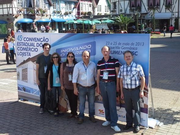 Presidenten da CDL de Itaiópolis participa da 45º Convenção Estadual do Comércio Lojista em Blumenau
